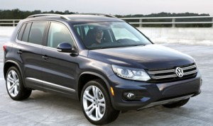 """The classy """"little"""" Tiguan has it all, right down to the so-cool LED surrounds around the headlights."""