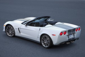 The 505-hp (337 kW) 2013 Corvette 427 Convertible is the fastest, most-capable convertible in Corvette's history, and is available in all colors, including the white-over-blue 60th Anniversary package that commemorates Corvette's debut in January, 1953.