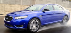 Dancin' in the rain: The all-wheel-drive 365HP 2013 Taurus SHO is Ford's affordable all-weather fighter-bomber.