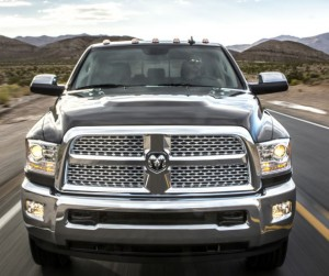 """""""But honey, I need it for the job!"""" The Ram 3500 Laramie Longhorn Crew Cab 4X4 brings new dimensions to chrome-plating. Chrysler/Dodge/Ram photo"""