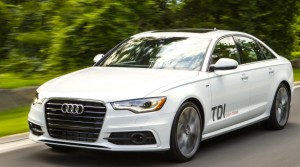 TDI decals (your car won't have them) drew as much attention as the Audi S-Line exterior and the high-gloss Black Optic trim. Audi photo