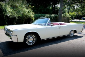 JFK's 63 Lincoln Continental Convertible