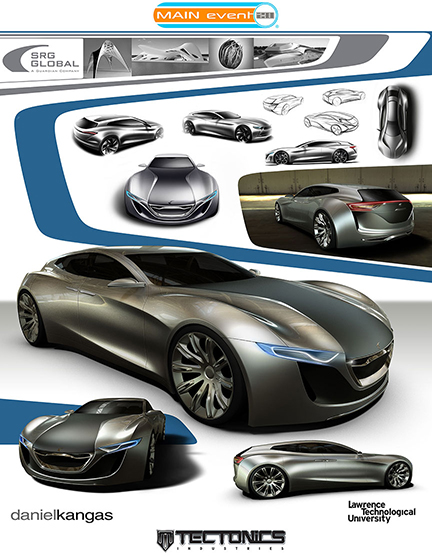 Car Design Project Presentation Layout