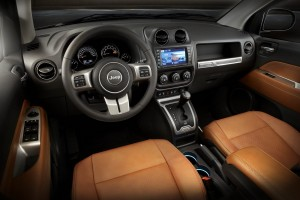 2014 Jeep Compass Limited in interior in Saddle Brown