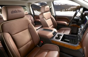 Neither Escalade nor Range Rover, this is the Silverado High Country Crew Cabin, with space, features and enough luxury to make four beefy pipefitters wipe their boots before climbing aboard. GM