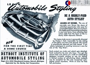 Harley Earl Auto Design school