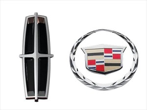 Lincol and Cadillac badges