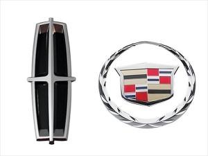 Lincol and Cadillac badges