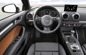 Does this look like an entry-level car? From the electronic parking brake to the disappearing computer screen and the finely stitched leather trim, the A3 Premium looks, feels and smells like quality, and there are still two higher trim levels available. Audi