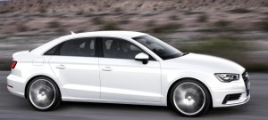Although the car is 10 inches shorter than an A4 and 19 inches shorter than an A6, the A3's silhouette is unmistakably Audi. Note the truncated overhangs beyond the wheels. Audi