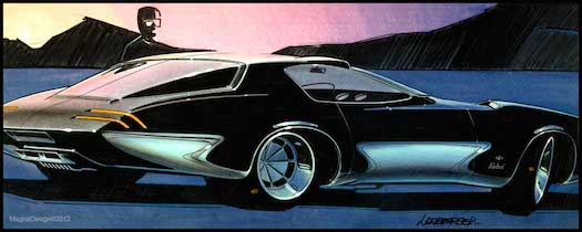 Early sketch of a proposed 1970 Pontiac Firebird.