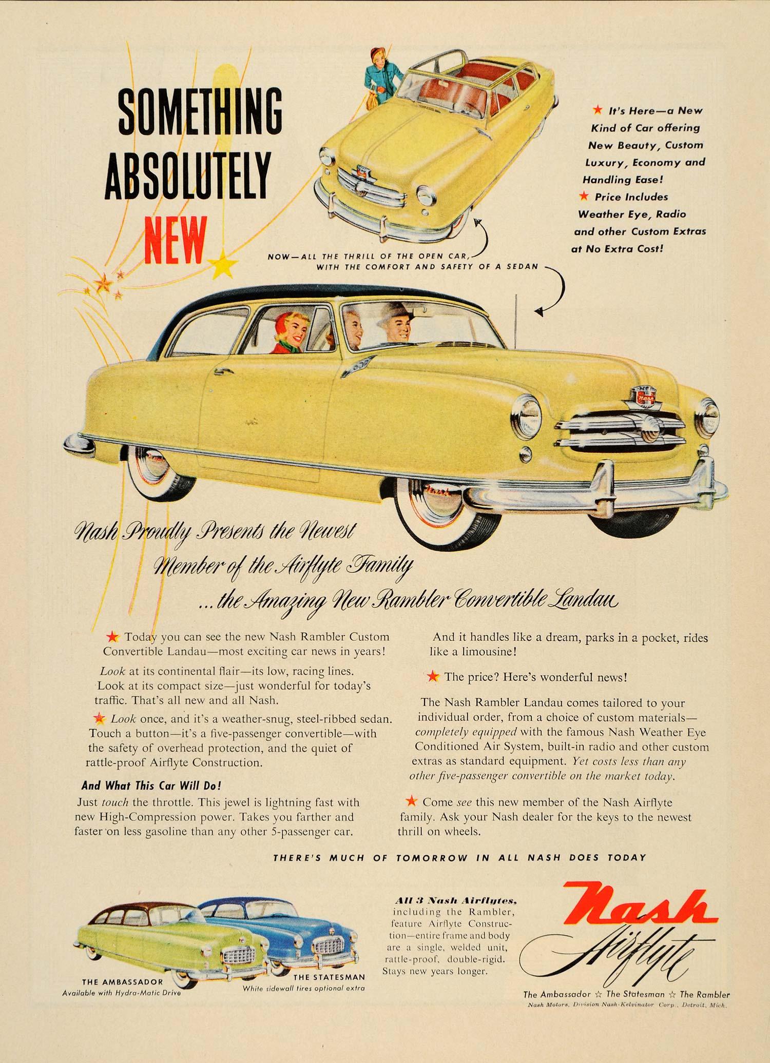 1950 Nash Rambler ad