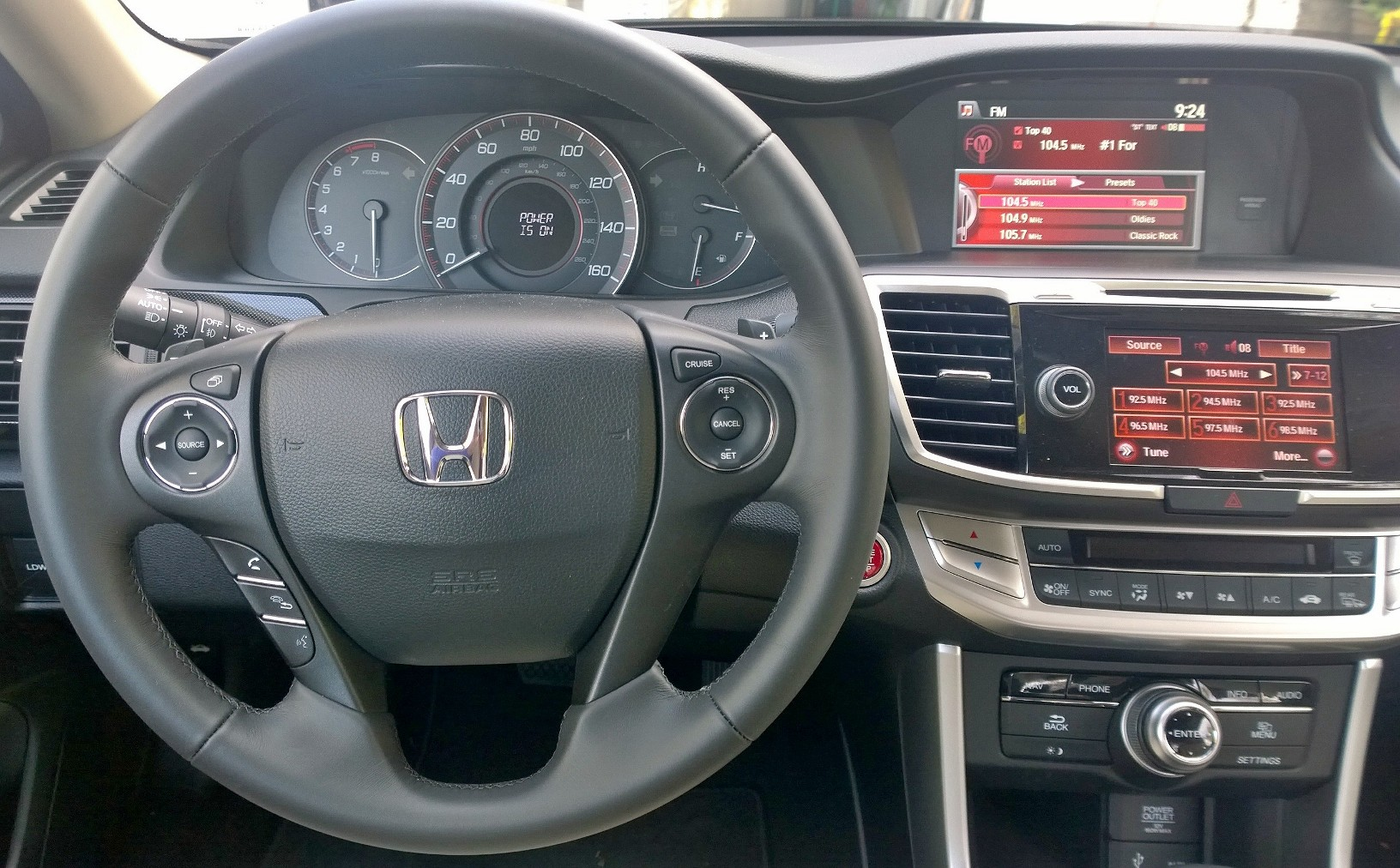 2015 Honda Accord Coupe Dash