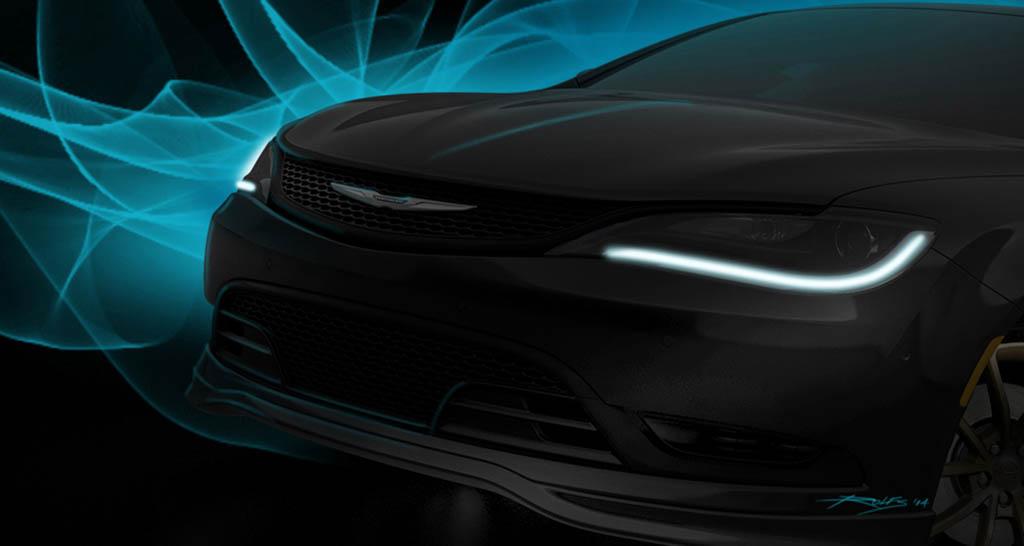 A sneak peak at the Chrysler 200S Mopar Concept that will be amo