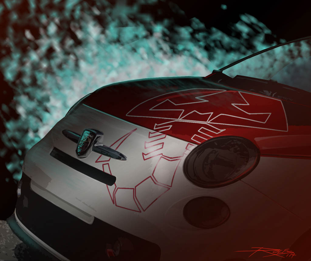 A sneak peak at the FIAT Abarth Scorpion that will be among a nu
