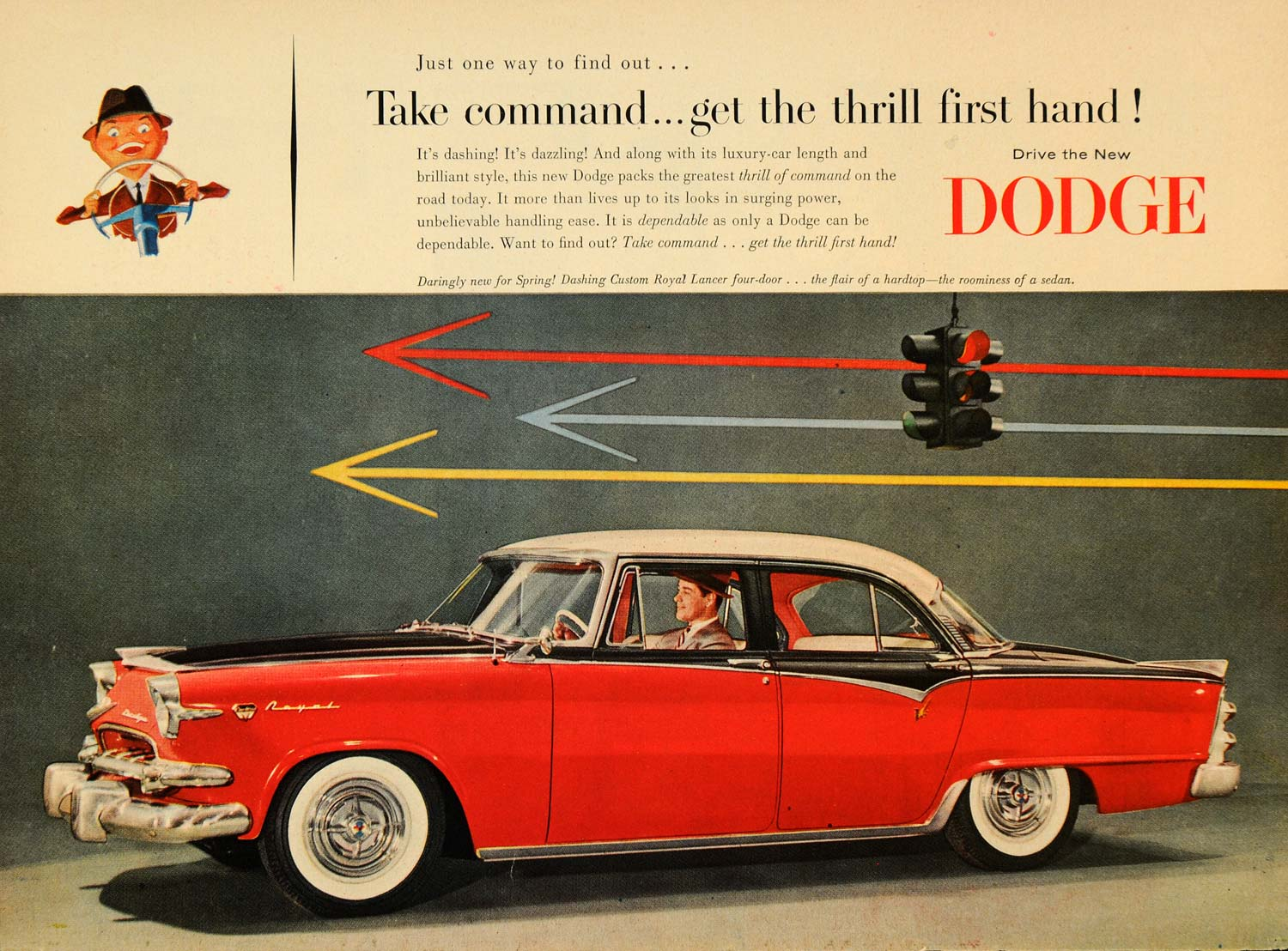 1955 Dodge Rpyal Lancer tri color