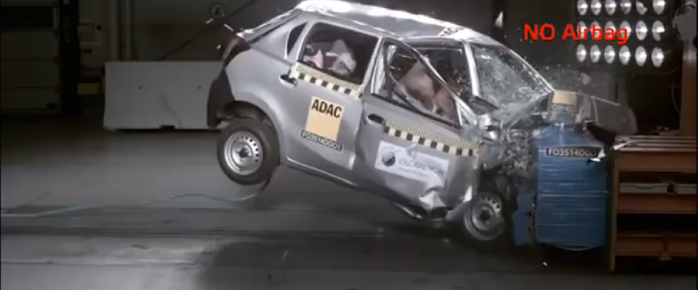 Watch the world's worst crash test fail - Datsun Go - Video