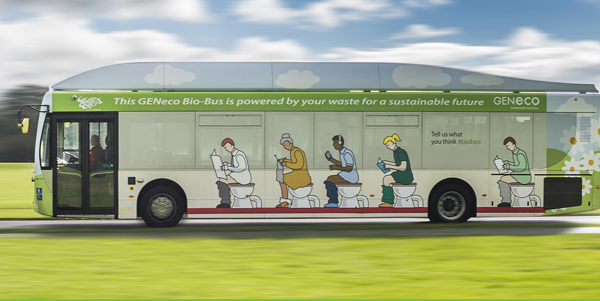 biobus human waste powered bus