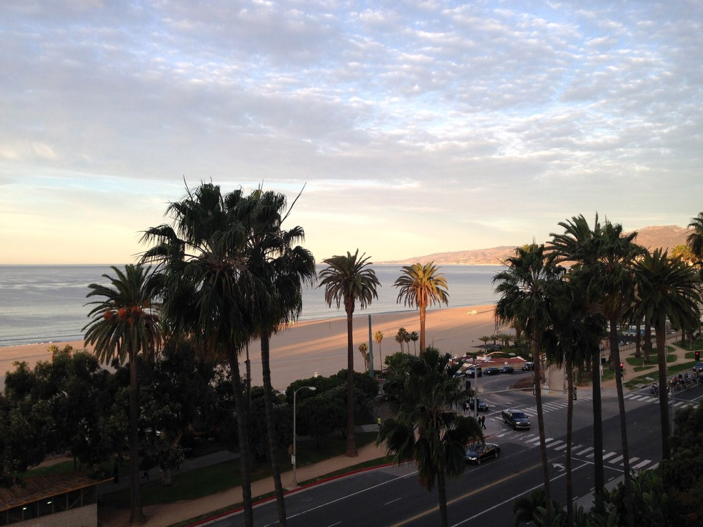 The view from the Fairmont Miramar hotel in Santa Monica is a reason to spend an entire day traveling across the country.