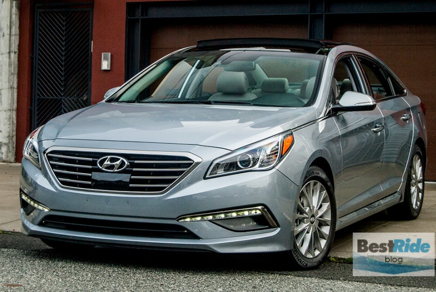 review 2015 hyundai sonata limited stylish and firm best ride midnight oil auto blog. Black Bedroom Furniture Sets. Home Design Ideas