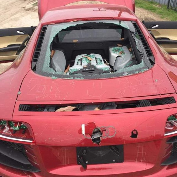 Used Audi In Chicago: Wife Trashes Husband's Audi R8 After He Cheats, Ouch