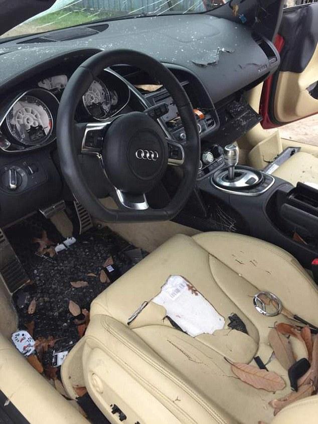 Audi R8 Trashed