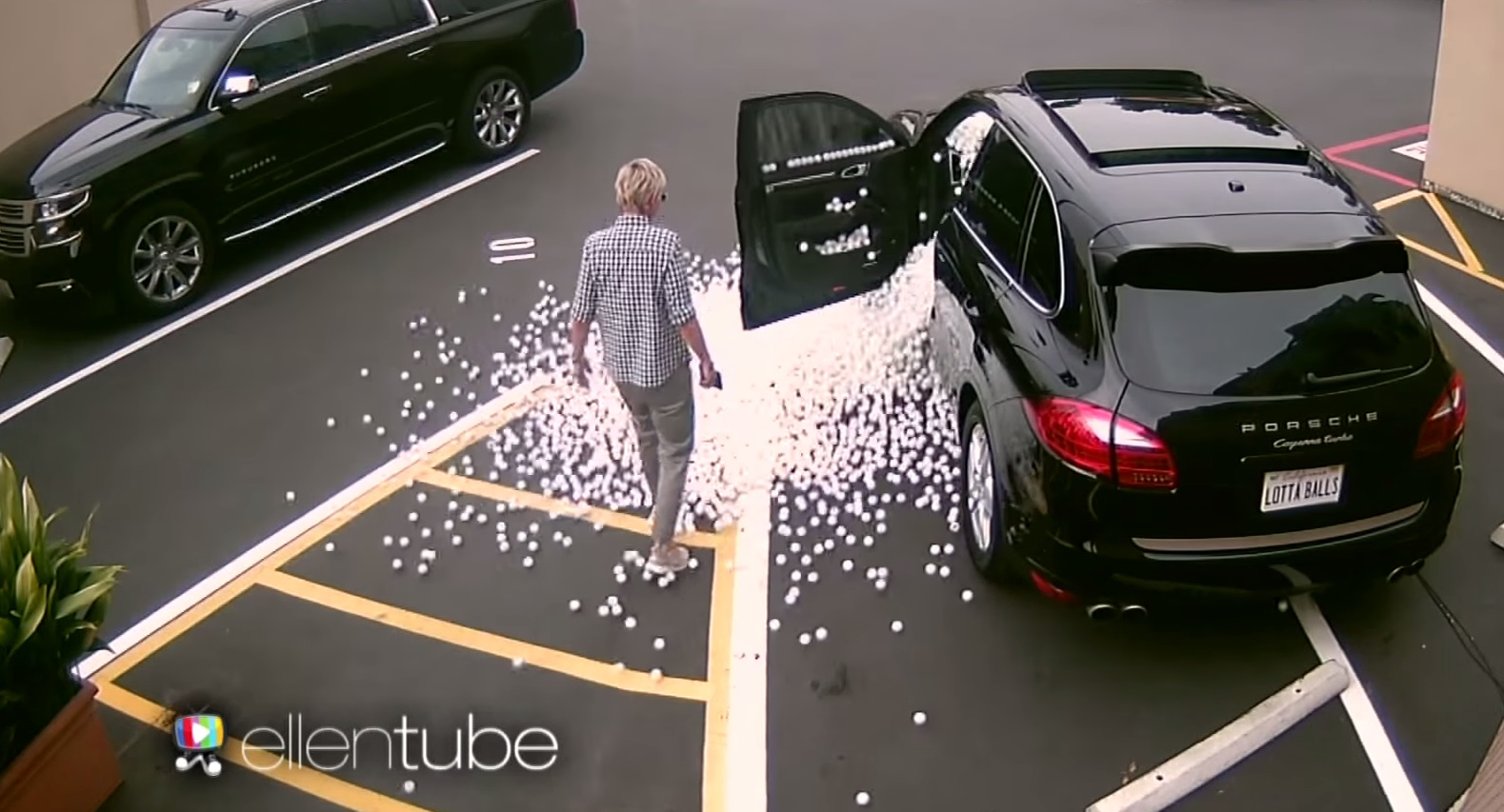 Ellen Degeneres Pranked With A Car Full Of Ping Pong Balls Bestride
