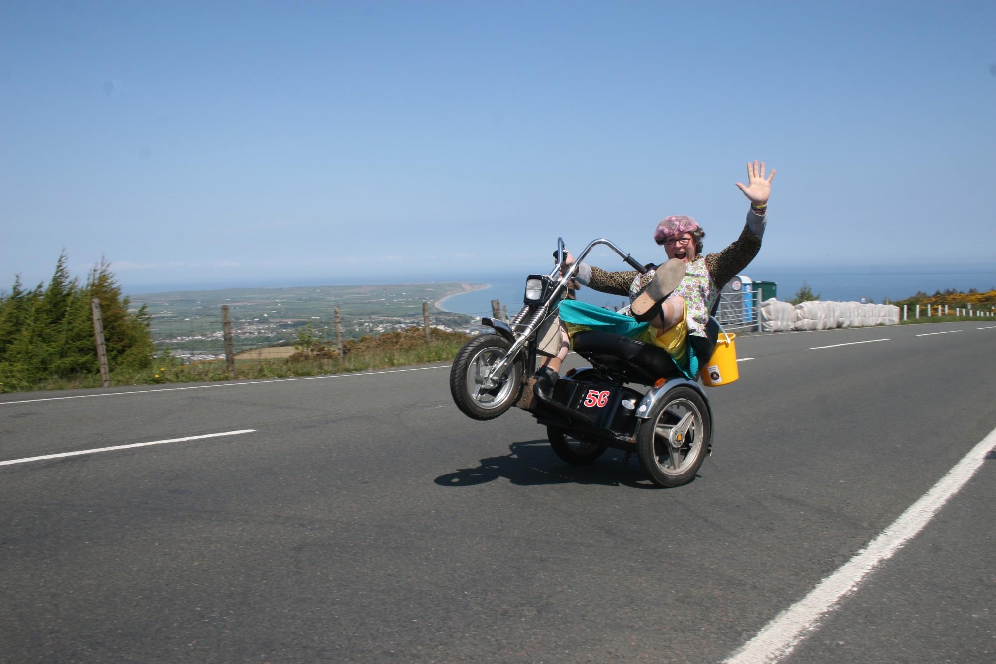 Isle of Nan TT Popping Wheelies , Image Extreme Trifle