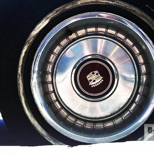 STREETSIDE: A Double-White-On-Blue 1982 Cadillac Sedan