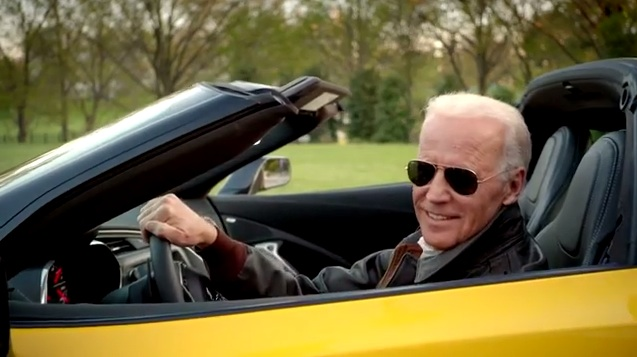Joe-Biden-yellow-Corvette