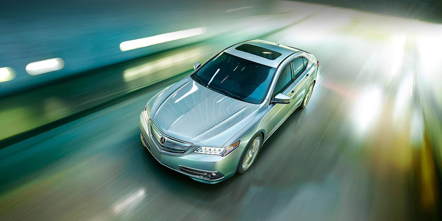 2015 Acura TLX front top view