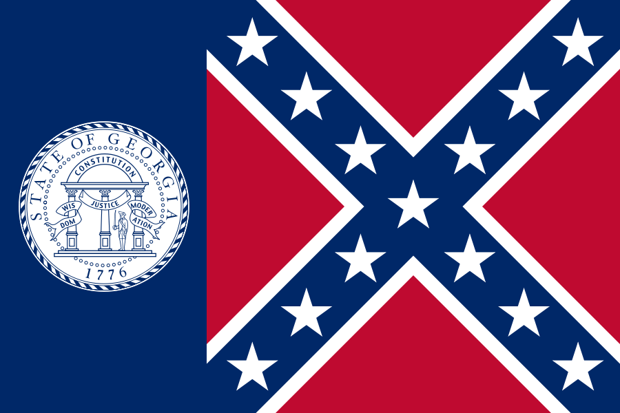 Confederate Flag Smokey and the Bandit Georgia Flag