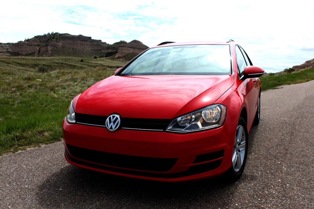 2015 VW Golf SportWagen TDI S Front Profile