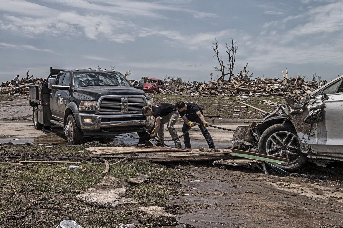 Ram convoy Texas flood
