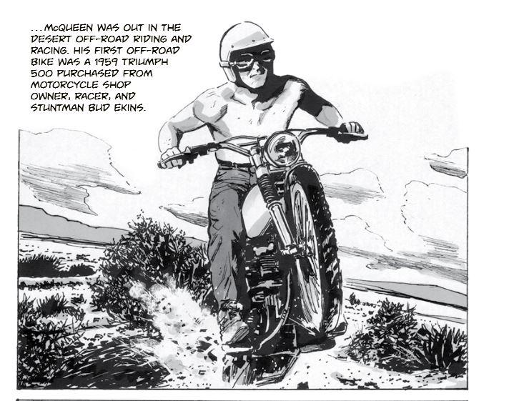 Steve McQueen - Motorcycle Racing