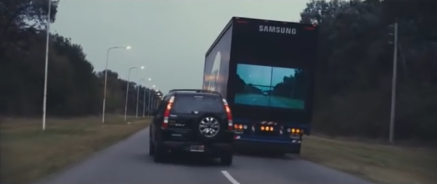 VIDEO: Samsung's New Safety System Lets You See Through Trucks