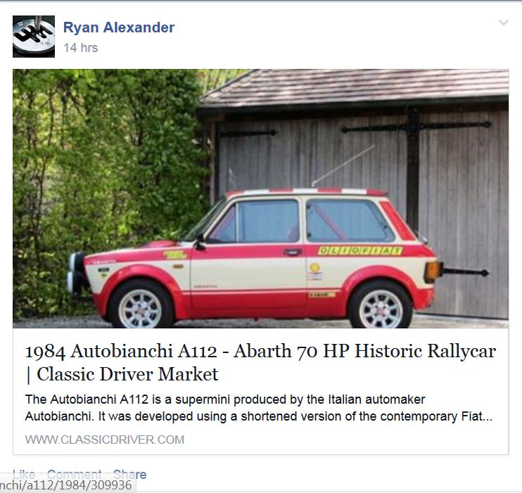 10 Best Facebook Pages - Obscure Cars For Sale