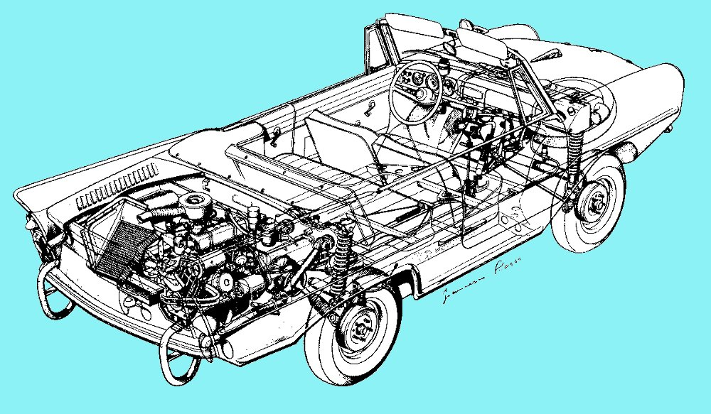 Amphicar1 the amphicar 770 car boat = major fun bestride amphicar wiring diagram at edmiracle.co