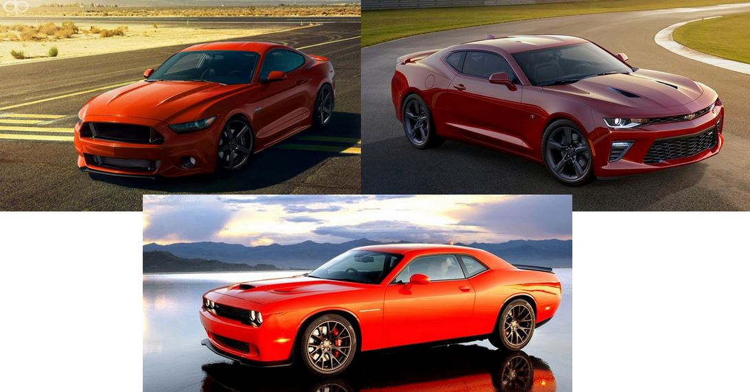 2016 Chevrolet Camaro Vs Ford Mustang Vs Dodge