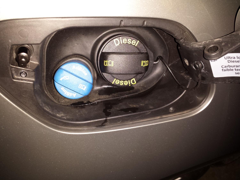 Golf diesel fill