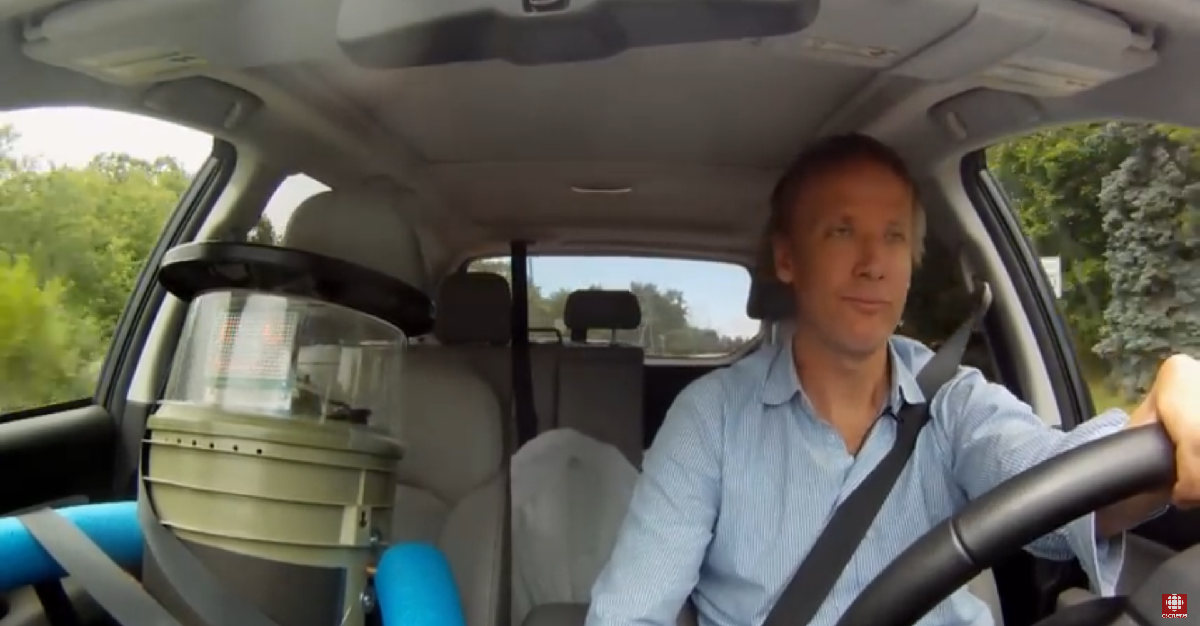 Hitchbot in car the National CNBC