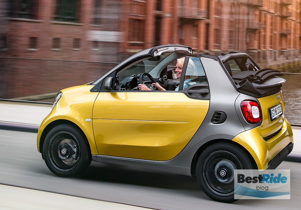 frankfurt preview 2016 smart fortwo cabrio a familiar refresh bestride. Black Bedroom Furniture Sets. Home Design Ideas