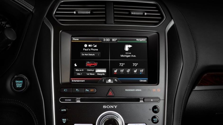 2016 Ford Explorer Platinum Infotainment