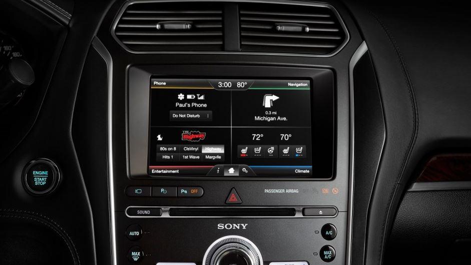 2016 Ford Explorer Platinum Infotainment