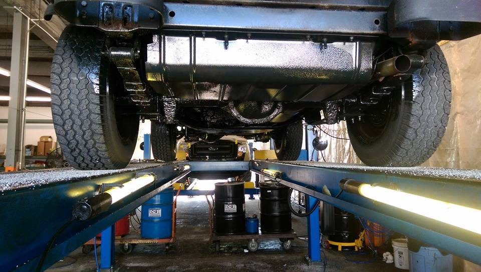 Oiling truck frame frame design reviews for Undercoating with used motor oil