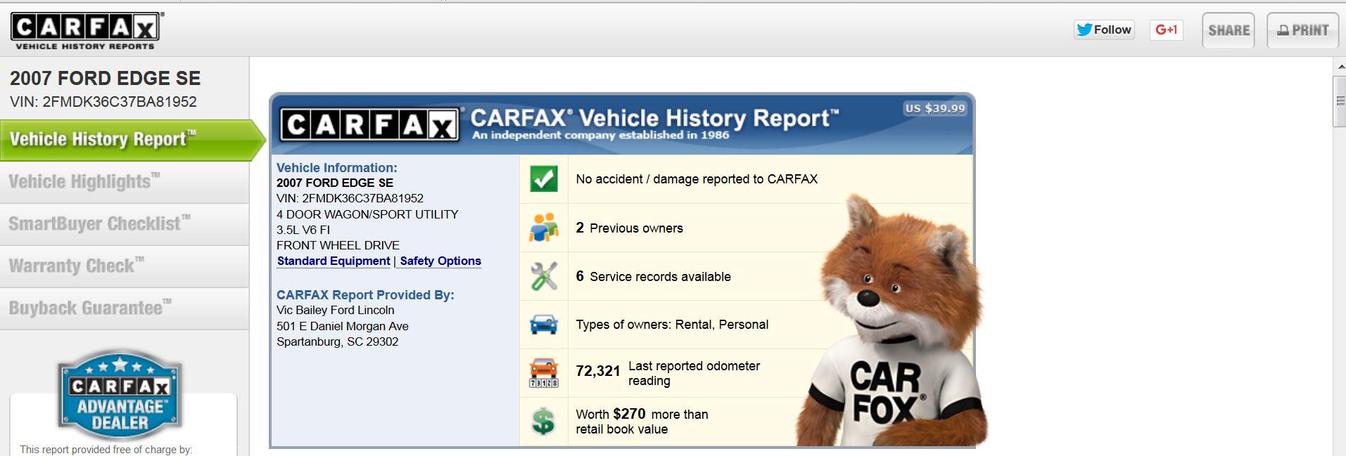 BestRide Carfax2