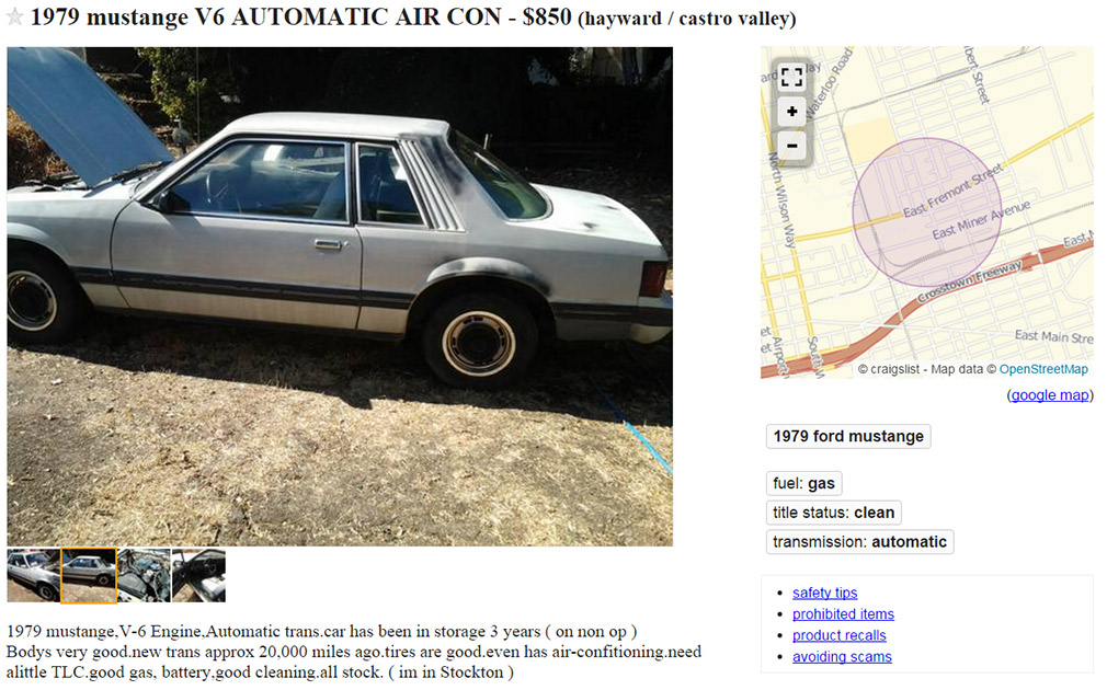 CRAIGSLIST: How About A 1979 Project Car? | BestRide