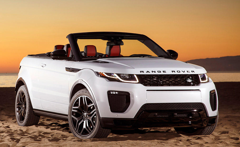 la auto show 2017 land rover evoque convertible bestride. Black Bedroom Furniture Sets. Home Design Ideas