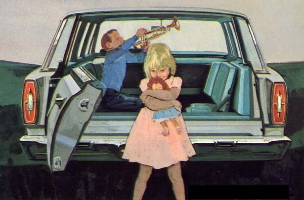 Thanksgiving Station Wagons - Ford Countrty Squire Trumpet
