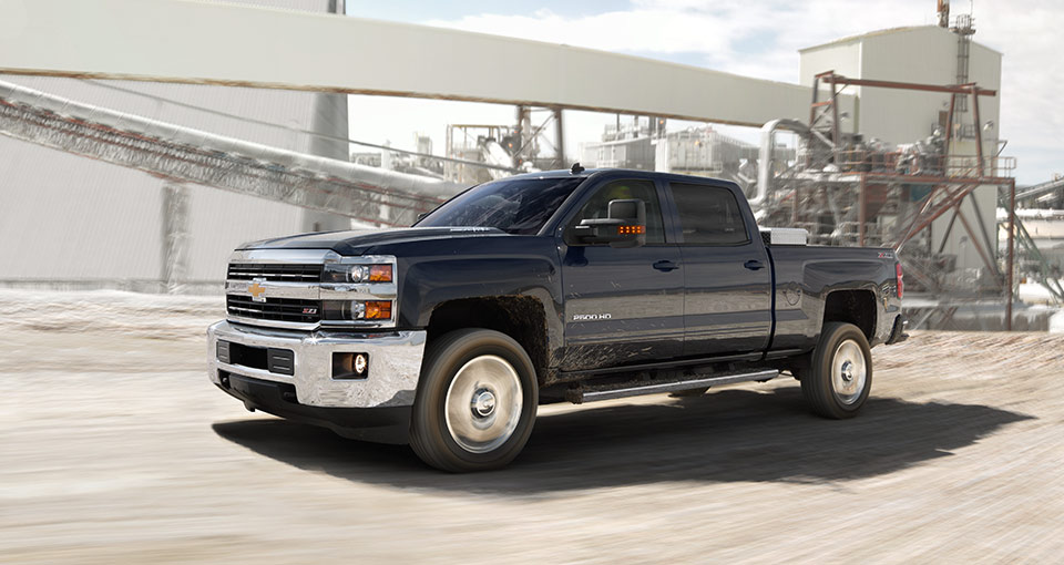 2016 Chevy Silverado at work side view